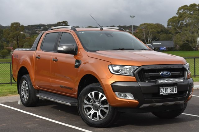 Used Ford Ranger PX MkII Wildtrak Double Cab, 2017 Ford Ranger PX MkII Wildtrak Double Cab Orange 6 Speed Sports Automatic Utility