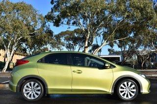 2012 Honda Civic 9th Gen VTi-S Lime Green 5 Speed Sports Automatic Hatchback.