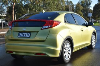 2012 Honda Civic 9th Gen VTi-S Lime Green/leather 5 Speed Sports Automatic Hatchback