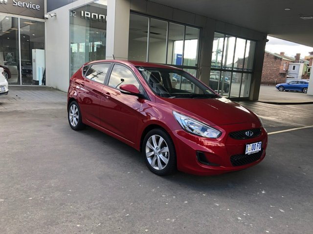 Demo Hyundai Accent RB6 MY19 Sport, 2019 Hyundai Accent RB6 MY19 Sport Pulse Red 6 Speed Automatic Hatchback
