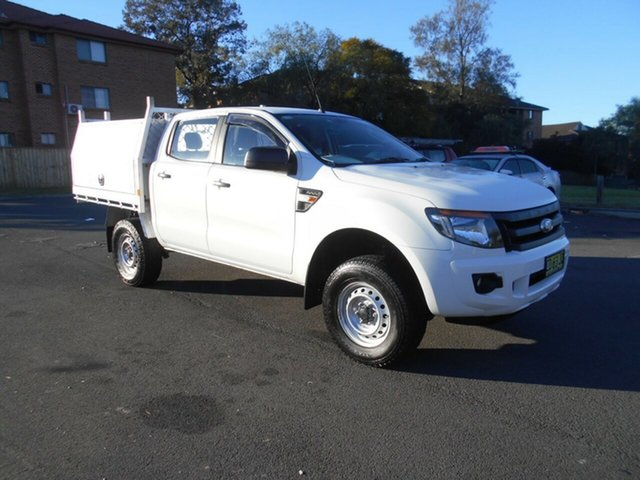 Used Ford Ranger PX XL 3.2 (4x4), 2015 Ford Ranger PX XL 3.2 (4x4) White 6 Speed Automatic Dual Cab Chassis