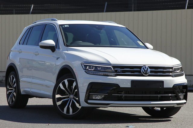 Demo Volkswagen Tiguan 5N MY19 162TSI DSG 4MOTION Highline, 2018 Volkswagen Tiguan 5N MY19 162TSI DSG 4MOTION Highline Pure White 7 Speed