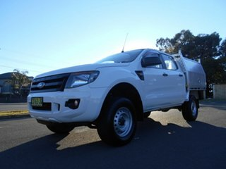 2015 Ford Ranger PX XL 3.2 (4x4) White 6 Speed Automatic Dual Cab Chassis.
