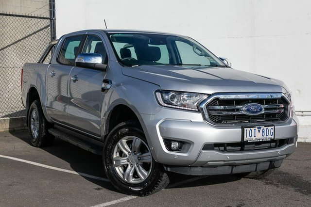 Used Ford Ranger PX MkIII 2019.00MY XLT Pick-up Double Cab, 2018 Ford Ranger PX MkIII 2019.00MY XLT Pick-up Double Cab Silver 6 Speed Sports Automatic Utility