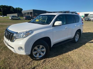 2016 Toyota Landcruiser Prado GDJ150R GXL Glacier White 6 Speed Sports Automatic Wagon.