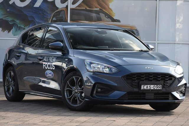 Demo Ford Focus SA 2019MY ST-Line, 2018 Ford Focus SA 2019MY ST-Line Blue Metallic 8 Speed Automatic Hatchback