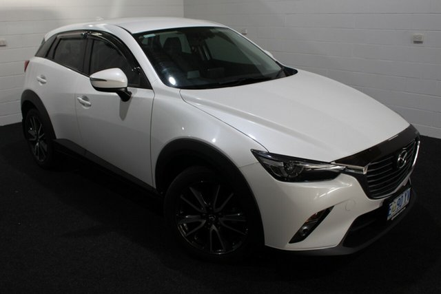 Used Mazda CX-3 DK2W7A sTouring SKYACTIV-Drive, 2016 Mazda CX-3 DK2W7A sTouring SKYACTIV-Drive White 6 Speed Sports Automatic Wagon