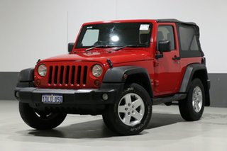 2010 Jeep Wrangler JK MY09 Sport (4x4) Red 4 Speed Automatic Softtop.