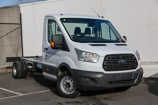 Used Ford Transit VO 470E, 2014 Ford Transit VO 470E White 6 Speed Manual Cab Chassis