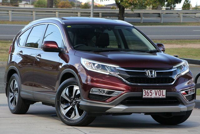 Used Honda CR-V RM Series II MY16 VTi-L, 2014 Honda CR-V RM Series II MY16 VTi-L Camelian Red/black 5 Speed Sports Automatic Wagon