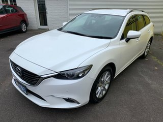 2015 Mazda 6 GJ1022 Touring SKYACTIV-Drive White 6 Speed Sports Automatic Wagon.