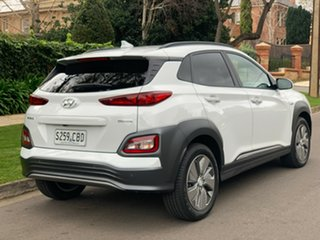 2019 Hyundai Kona OS.3 MY19 electric Elite Chalk White 1 Speed Reduction Gear Wagon