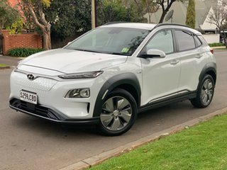2019 Hyundai Kona OS.3 MY19 electric Elite Chalk White 1 Speed Reduction Gear Wagon.