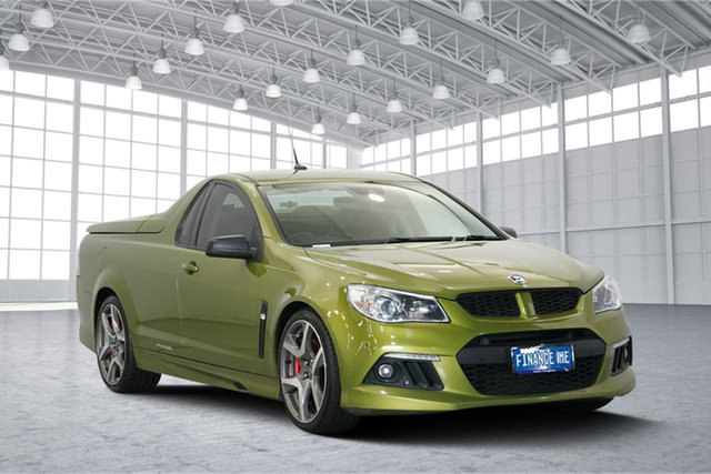 Used Holden Special Vehicles Maloo Gen-F MY15 R8, 2015 Holden Special Vehicles Maloo Gen-F MY15 R8 Green 6 Speed Manual Utility