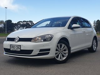2014 Volkswagen Golf VII MY14 90TSI DSG Comfortline White 7 Speed Sports Automatic Dual Clutch.