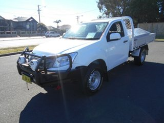 2015 Isuzu D-MAX TF MY15 SX (4x4) White 5 Speed Automatic Cab Chassis.