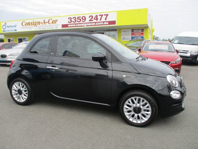 Used Fiat 500C Series 4 POP, 2015 Fiat 500C Series 4 POP Black 5 Speed Manual Convertible