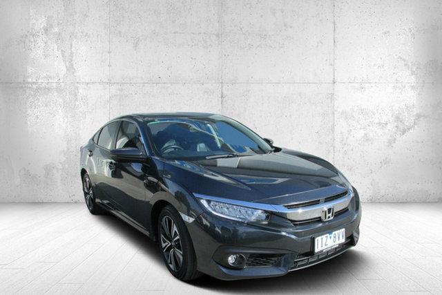 Used Honda Civic 10th Gen MY16 VTi-LX, 2016 Honda Civic 10th Gen MY16 VTi-LX Grey 1 Speed Constant Variable Sedan