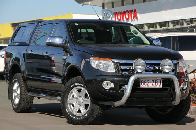 Used Ford Ranger PX XLT Double Cab, 2011 Ford Ranger PX XLT Double Cab Black 6 Speed Sports Automatic Utility
