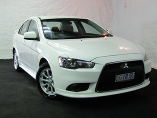 2012 Mitsubishi Lancer CJ MY12 Activ White 5 Speed Manual Sedan.
