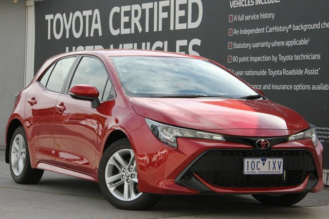 Used Toyota Corolla Mzea12R Ascent Sport, 2018 Toyota Corolla Mzea12R Ascent Sport Volcanic Red 10 Speed Constant Variable Hatchback