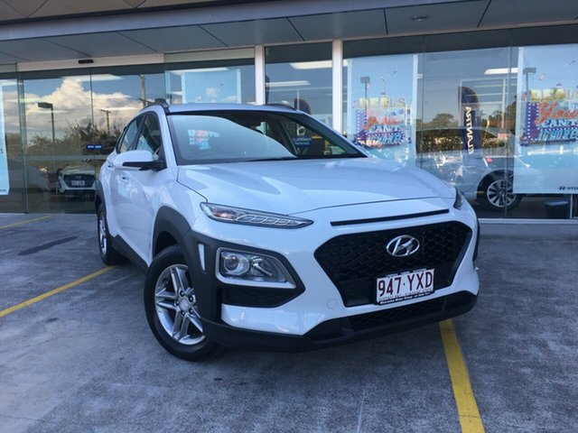 Demo Hyundai Kona OS.2 MY19 Active 2WD, 2018 Hyundai Kona OS.2 MY19 Active 2WD Chalk White 6 Speed Sports Automatic Wagon