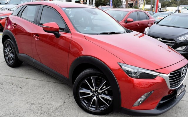 Used Mazda CX-3 DK2W7A sTouring SKYACTIV-Drive, 2017 Mazda CX-3 DK2W7A sTouring SKYACTIV-Drive Red/Black 6 Speed Sports Automatic Wagon