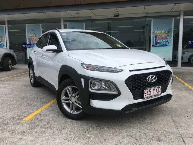 Demo Hyundai Kona OS.2 MY19 Active 2WD, 2018 Hyundai Kona OS.2 MY19 Active 2WD Chalk White 6 Speed Sports Automatic Wagon