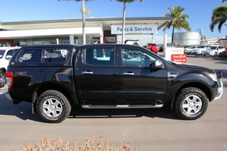 2011 Ford Ranger PX XLT Double Cab Black 6 Speed Sports Automatic Utility.