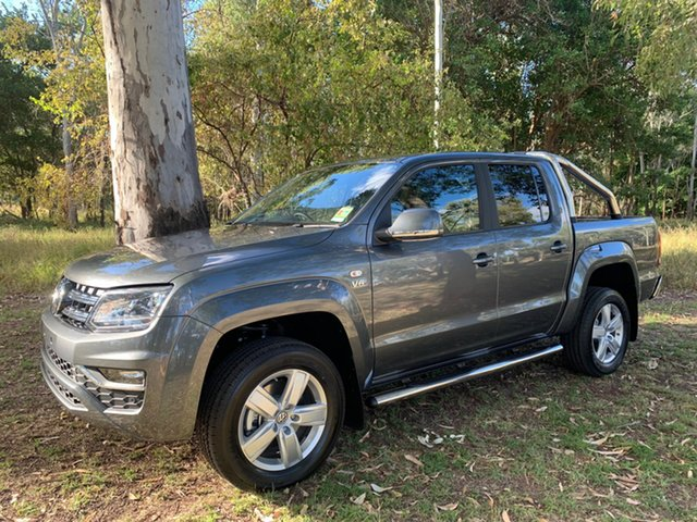 Demo Volkswagen Amarok 2H MY19 TDI550 4MOTION Perm Highline, 2019 Volkswagen Amarok 2H MY19 TDI550 4MOTION Perm Highline Indium Grey 8 Speed Automatic Utility