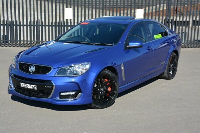 Used Holden Commodore VF II MY16 SS V Redline, 2015 Holden Commodore VF II MY16 SS V Redline Blue 6 Speed Manual Sedan
