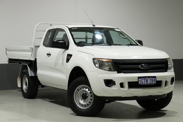 Used Ford Ranger PX XL 2.2 Hi-Rider (4x2), 2013 Ford Ranger PX XL 2.2 Hi-Rider (4x2) White 6 Speed Automatic Super Cab Chassis
