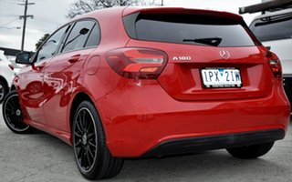 2018 Mercedes-Benz A180 W176 808+058MY D-CT Red/Black 7 Speed Sports Automatic Dual Clutch Hatchback
