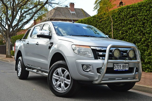 Used Ford Ranger PX XLT Double Cab, 2014 Ford Ranger PX XLT Double Cab Silver 6 Speed Manual Utility