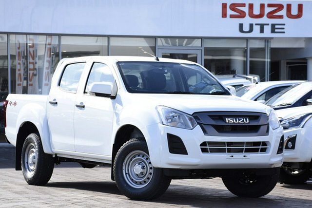 New Isuzu D-MAX MY19 SX Crew Cab, 2019 Isuzu D-MAX MY19 SX Crew Cab Splash White 6 Speed Sports Automatic Utility