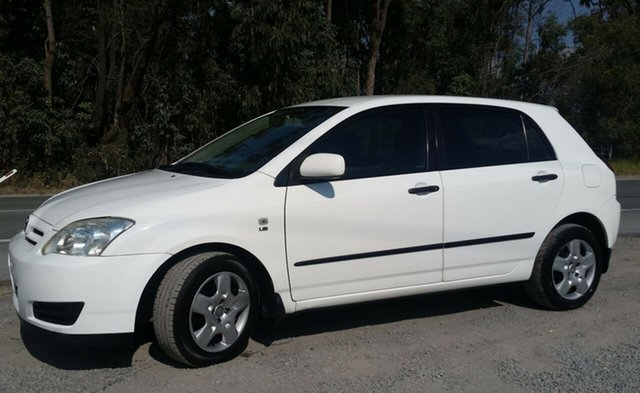 Used Toyota Corolla ZZE122R 5Y Ascent, 2006 Toyota Corolla ZZE122R 5Y Ascent White 4 Speed Automatic Hatchback