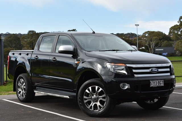 Used Ford Ranger PX XLS Double Cab, 2015 Ford Ranger PX XLS Double Cab Black 6 Speed Sports Automatic Utility