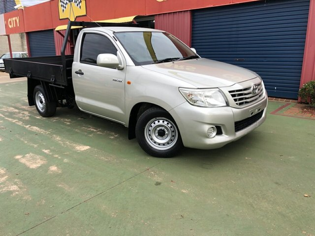 Used Toyota Hilux TGN16R MY12 Workmate 4x2, 2012 Toyota Hilux TGN16R MY12 Workmate 4x2 5 Speed Manual Cab Chassis