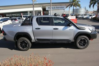2018 Toyota Hilux GUN126R Rugged X Double Cab Silver Sky 6 Speed Sports Automatic Utility.