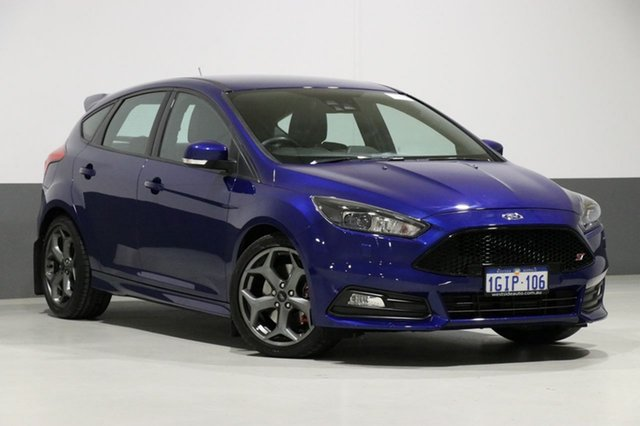 Used Ford Focus LZ ST2, 2017 Ford Focus LZ ST2 Blue 6 Speed Manual Hatchback