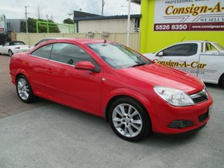 2008 Holden Astra AH MY09 Twin TOP Red 4 Speed Automatic Convertible.