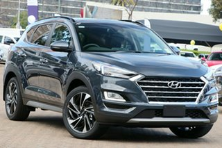 2020 Hyundai Tucson TL3 MY21 Highlander AWD Dusk Blue 8 Speed Sports Automatic Wagon.