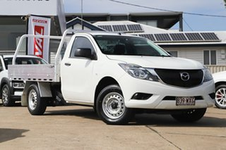 2016 Mazda BT-50 UR0YE1 XT 4x2 Cool White 6 Speed Manual Cab Chassis.