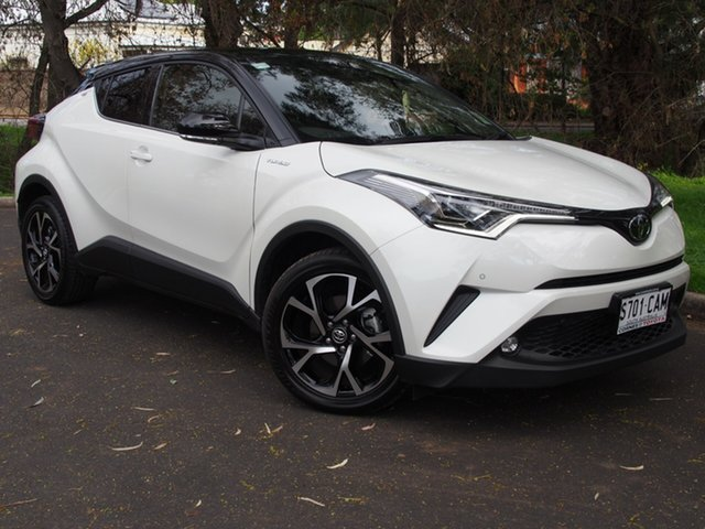 Demo Toyota C-HR NGX50R Koba S-CVT AWD, 2019 Toyota C-HR NGX50R Koba S-CVT AWD Crystal Pearl+blk 7 Speed Constant Variable Wagon