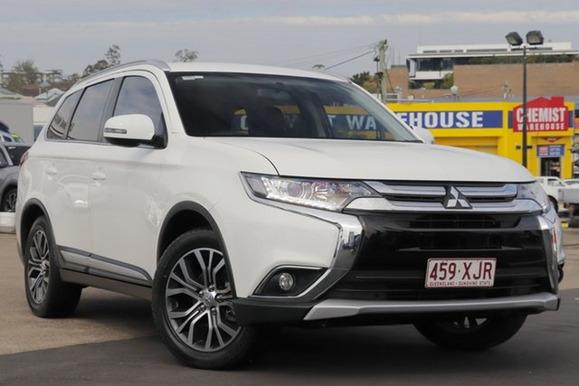 Used Mitsubishi Outlander ZK MY18 LS 2WD, 2017 Mitsubishi Outlander ZK MY18 LS 2WD White 6 Speed Constant Variable Wagon