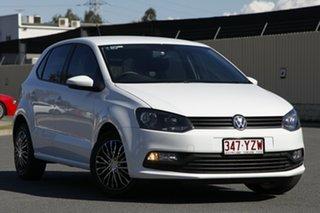 2014 Volkswagen Polo 6R MY15 66TSI Trendline White 5 Speed Manual Hatchback.