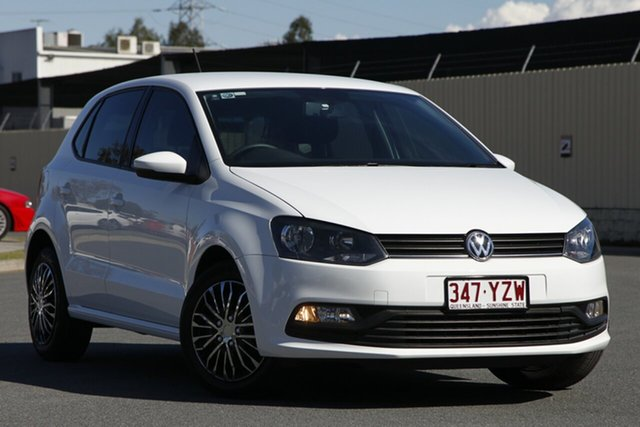 Used Volkswagen Polo 6R MY15 66TSI Trendline, 2014 Volkswagen Polo 6R MY15 66TSI Trendline White 5 Speed Manual Hatchback