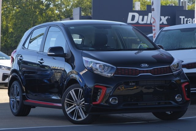 New Kia Picanto JA MY19 GT, 2019 Kia Picanto JA MY19 GT Aurora Black 5 Speed Manual Hatchback