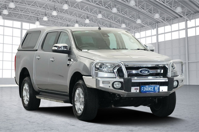 Used Ford Ranger PX MkII XLT Double Cab, 2016 Ford Ranger PX MkII XLT Double Cab Silver 6 Speed Sports Automatic Utility