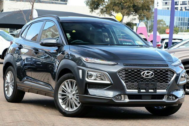 New Hyundai Kona OS.3 MY20 Elite 2WD, 2020 Hyundai Kona OS.3 MY20 Elite 2WD Dark Knight 6 Speed Sports Automatic Wagon